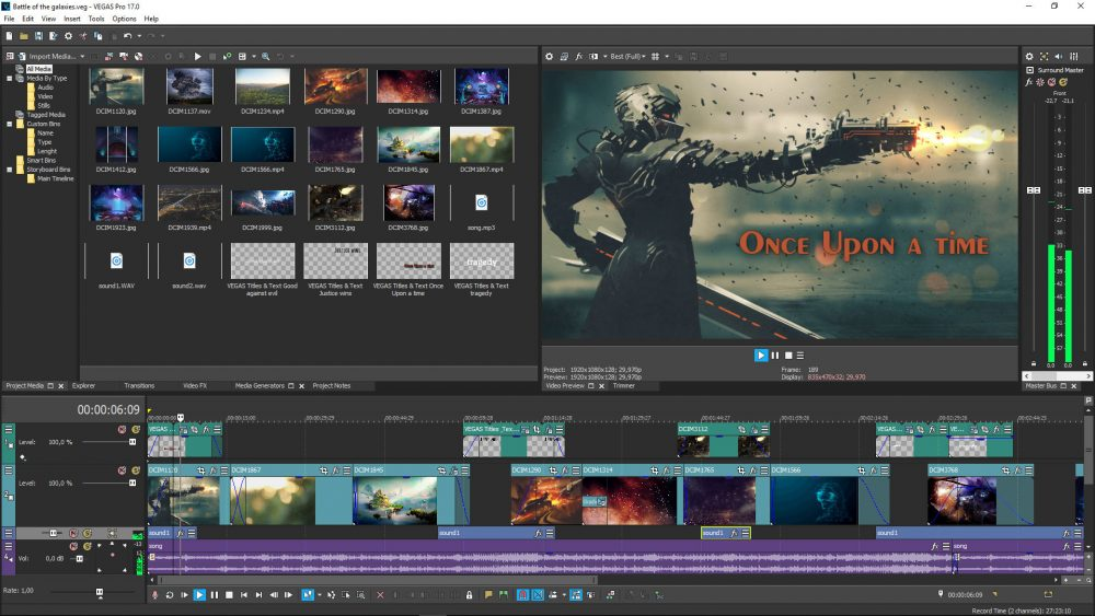 A Sony videoszerkesztő programja a Vegas Pro